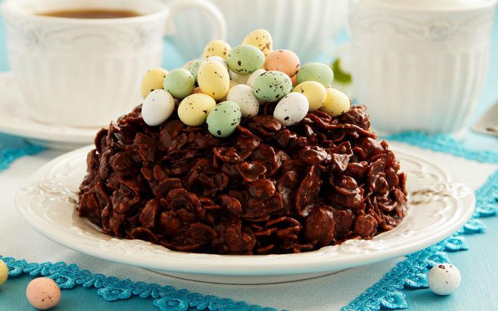 cikolatali misir gevrekli pasta