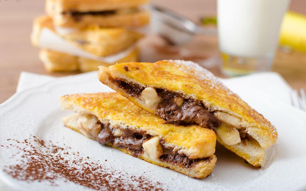 muzlu cikolatali fransız tostu