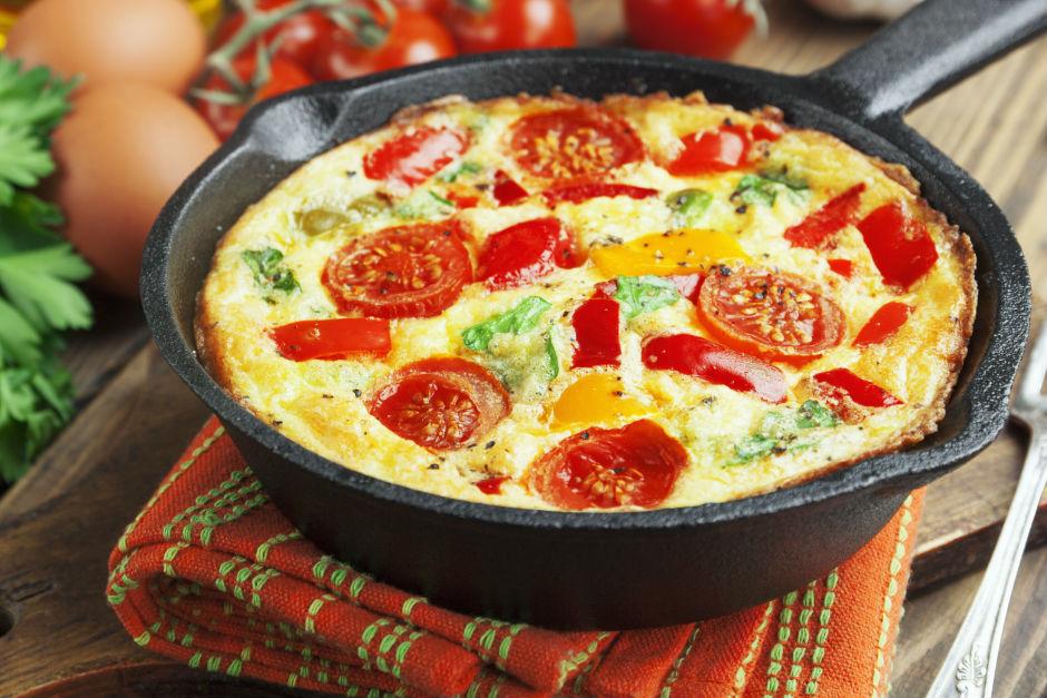 Fırında Tulum Peynirli Omlet Tarifi