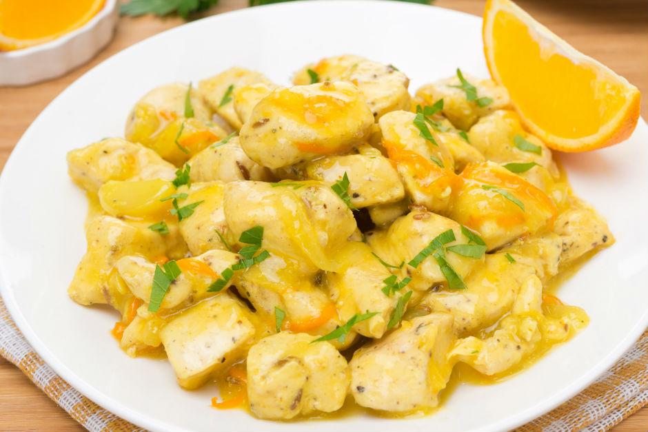 Portakallı Tavuk Sote Tarifi
