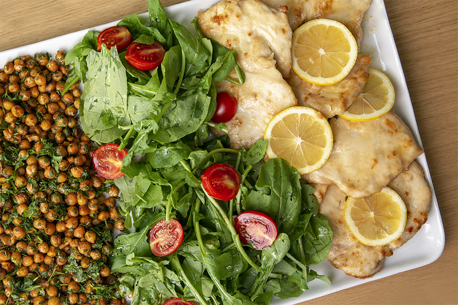 Limonlu Tavuk ve Baharatlı Nohut Tarifi