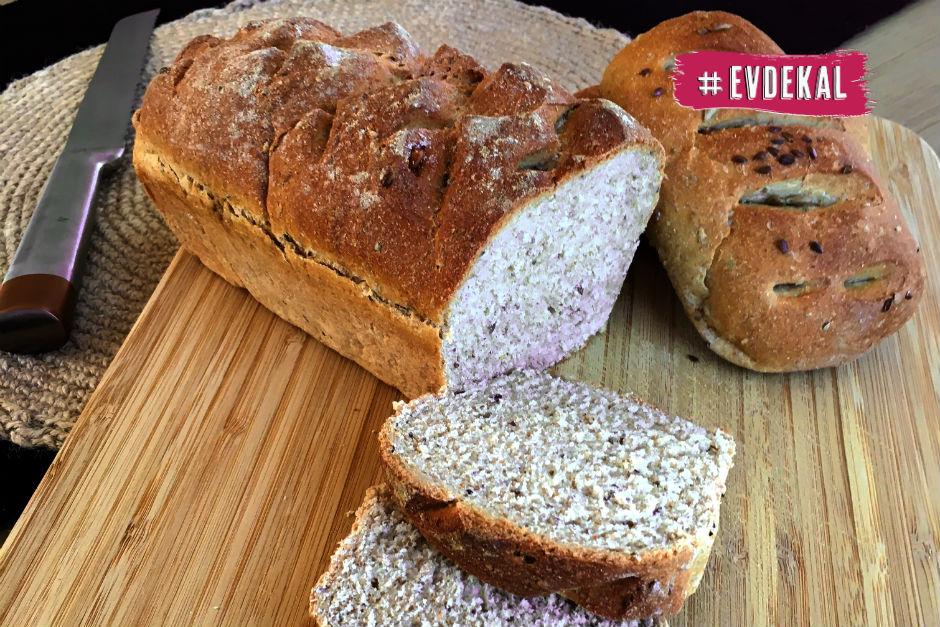 Chia ve Keten Tohumlu Tam Buğday Ekmek Tarifi