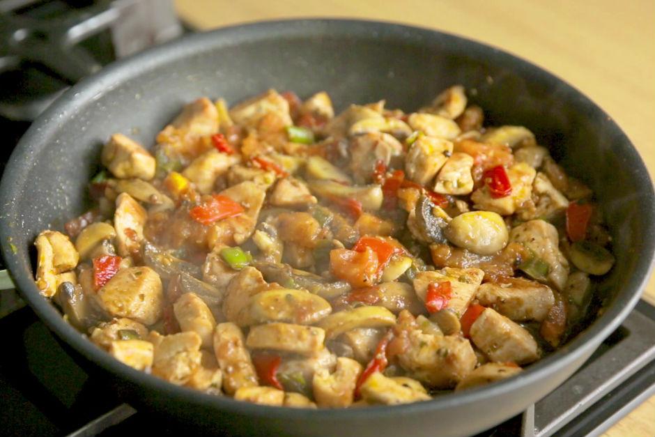 Kolay Mantarlı Tavuk Sote Tarifi
