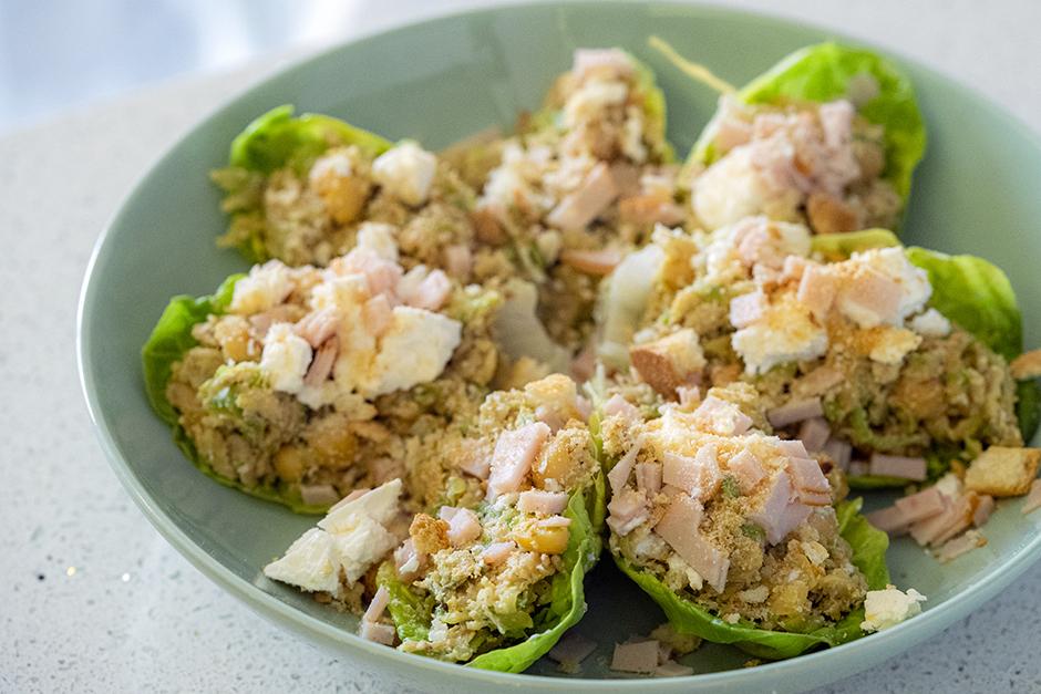 Nohutlu Kabaklı Marul Taco Tarifi