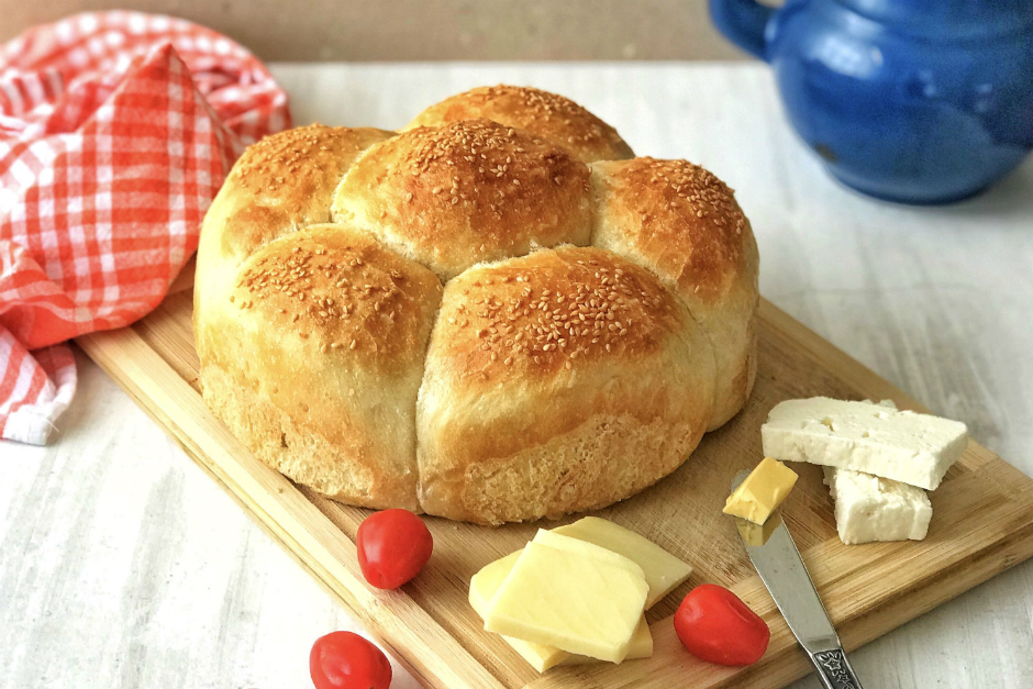 Pratik Çiçek Ekmek Tarifi