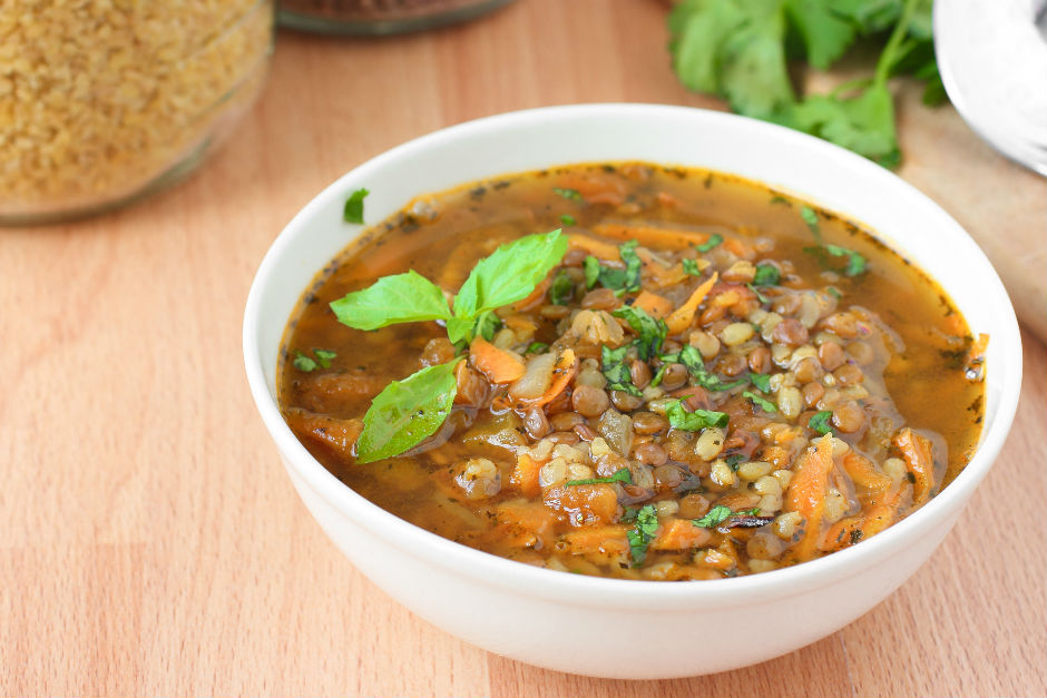 Bulgurlu Yeşil Mercimek Çorbası Tarifi