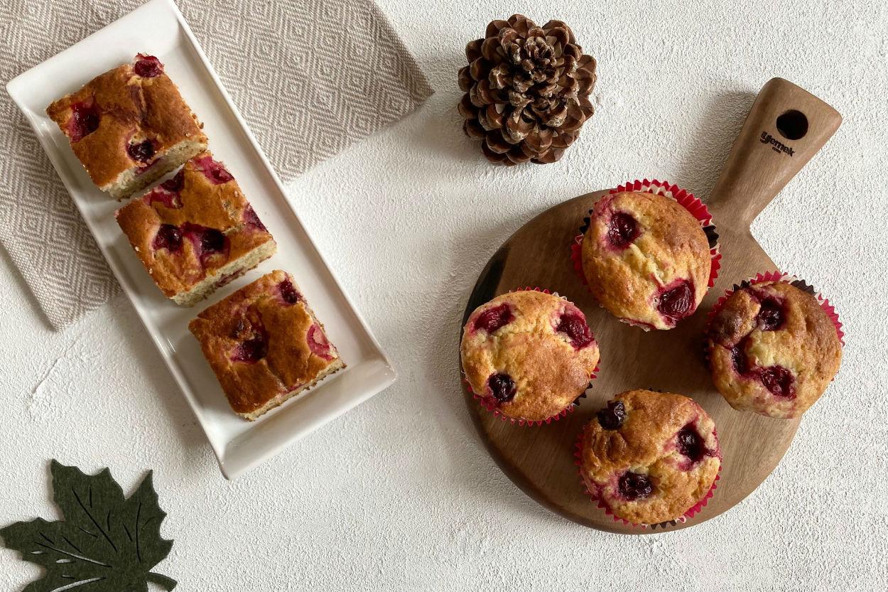 Muzlu Vişneli Beyaz Çikolatalı Muffin Tarifi