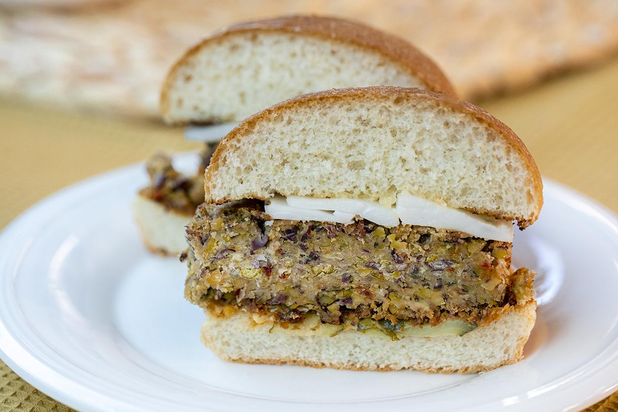 Vegan Peynirli Vejetaryen Burger