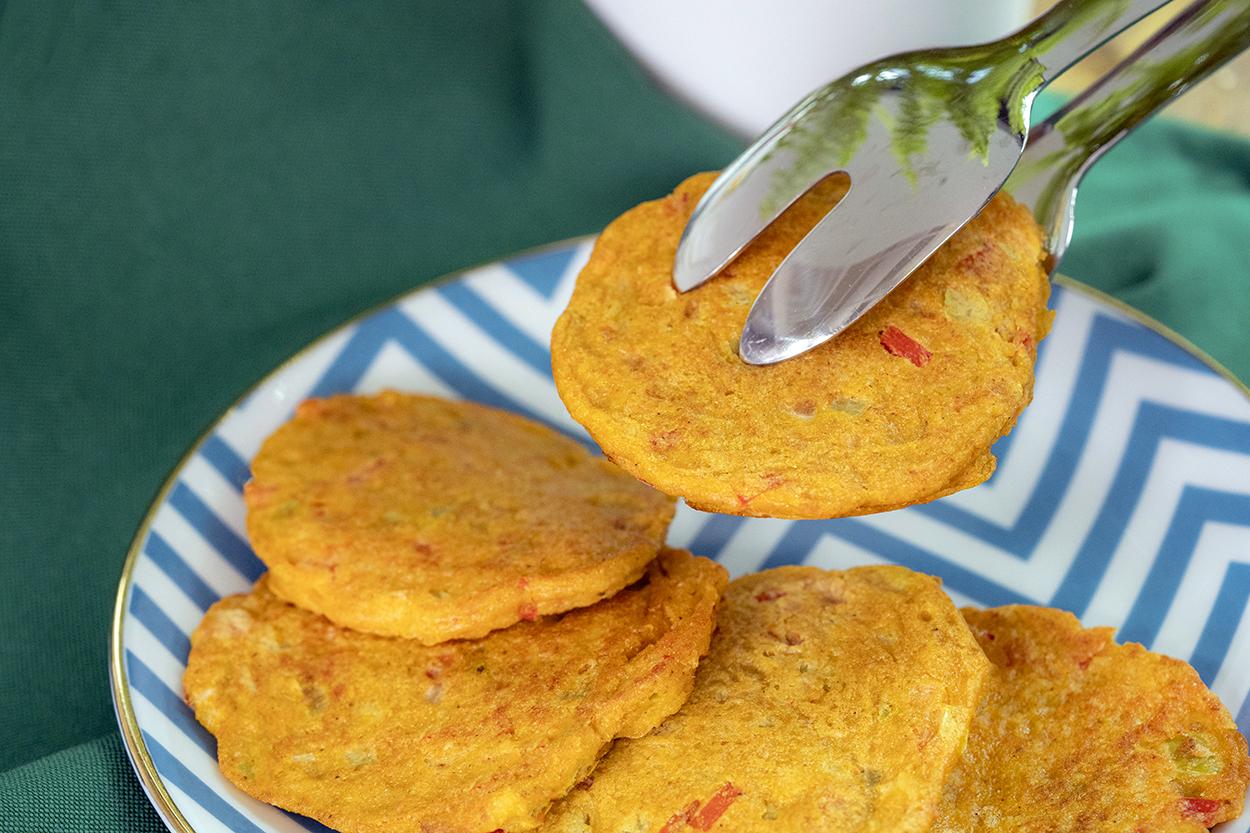 Yulaflı Sebzeli Pancake Tarifi