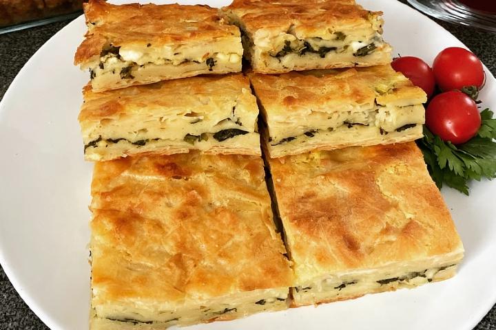 Ispanaklı Peynirli Kırpık Börek Tarifi
