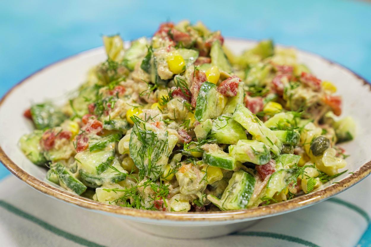 Ton Balıklı Fit Makarna Salatası Tarifi